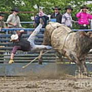 Bull 1 - Rider 0 Art Print