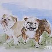 Bulldog Tough Love Art Print