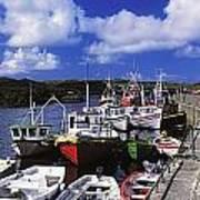 Bunbeg, Donegal, Ireland Harbour Of A Art Print