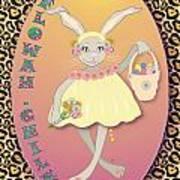 Bunnie Girls- Flowah Chile 1 Of 4  Art Print
