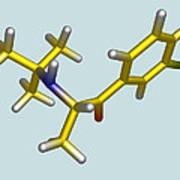 Bupropion Drug Molecule Print by Dr Tim Evans