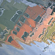 Burano House Reflections Art Print