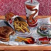 Burger King Value Meal No. 3 Art Print