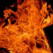 Burning Swirls Art Print