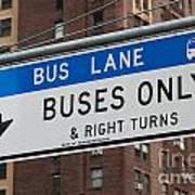 Buses Only I Art Print