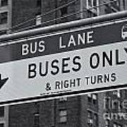 Buses Only II Art Print