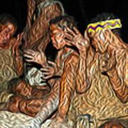 Bushmen Art Print
