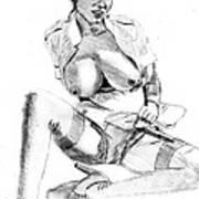 Busty Nurse Art Print