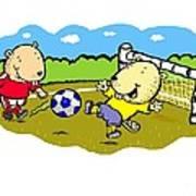 Busy Beaver Soccer Art Print