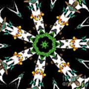 Butterflies Mania Kaleidoscope Art Print