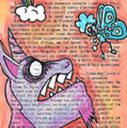 Butterfly Vs Unicorn Art Print