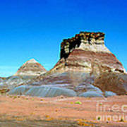 Buttes In The Painted Desert In Arizona Art Print