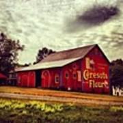 Buy Flour. #barn #pa #pennsylvania Art Print