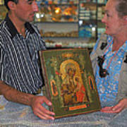 Buying Icon In Jerusalem Art Print