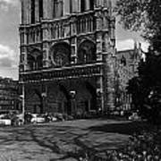 Vintage France Paris Notre Dame Cathedral 1970 Art Print