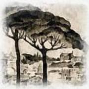 By Italy Art Print by Odon Czintos