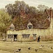 By The Old Cottage Art Print
