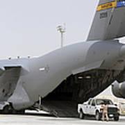 C-17s Deliver, Pick-up Cargo Art Print