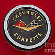 C1 Corvette Emblem Art Print