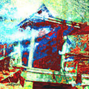Cabin In The Fog Art Print