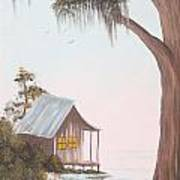 Cabin In The Swamp Art Print