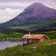 Cabin On Tangle Lake Art Print
