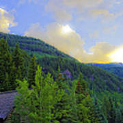 Cabin On The Mountain - Vail Art Print