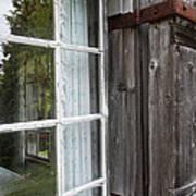 Cabin Window Art Print