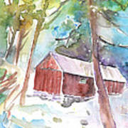 Cabine In The Troodos Mountains Art Print