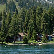 Cabins On The Lake Tahoe Art Print