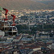 Cable Car In Grenoble  Art Print