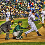 Cabrera Grand Slam Art Print by Nicholas  Grunas