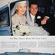 Cadillac Ad, 1955 Art Print
