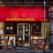 Cafe - Ny - Chelsea - Mappamondo  Art Print by Mike Savad