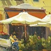 Cafe In Montecito Art Print