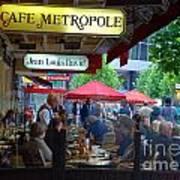 Cafe Metropole Art Print by Andrea Simon