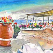 Cafe On Agios Georgios Beach Art Print