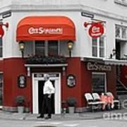 Cafe Sorgenfri Art Print