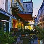 Cafe Terrace On The Place Du Forum Art Print