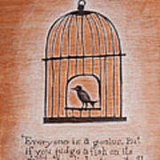 Caged Genius Art Print by Canis Canon
