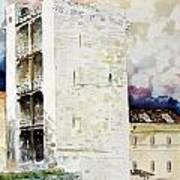 Cagliari - Torre Dell'elefante Art Print