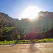 Cajas Mountains Sunset  Ecuador Art Print