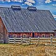 Calgary Barn Hdr Art Print