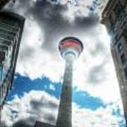 Calgary Tower Hdr Art Print