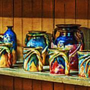 Calico Pottery Art Print
