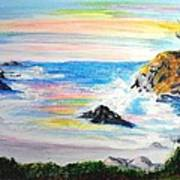 California Coast Art Print by Susan  Clark