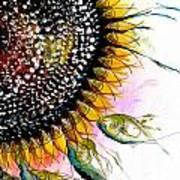 California Sunflower Art Print