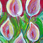 Callas By My Red Door Art Print