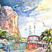 Calpe Harbour 04 Art Print