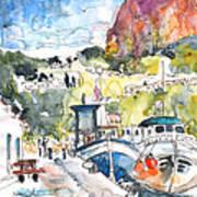 Calpe Harbour 05 Art Print